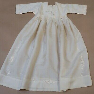 Vintage Embroidered Silk Baby Babies Nightgown Mop Buttons