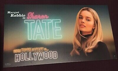 ONCE UPON A TIME IN HOLLYWOOD Margot Robbie Odeon PromoCard-Tarantino's 9th Film