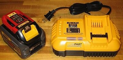 1 New DCB606 Dewalt FLEXVOLT 20/60V MAX 6.0 Ah Battery &1 DCB118 Fast Charger