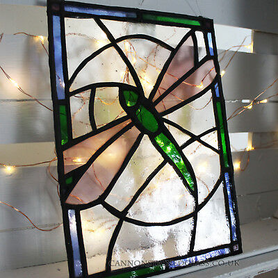 Dragonfly Stained Glass hanger, for wall, window or suncatcher
