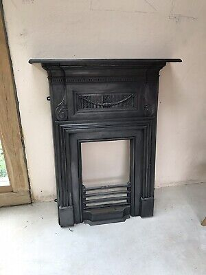 Vintage Victorian Style Cast Iron Fireplace Surround