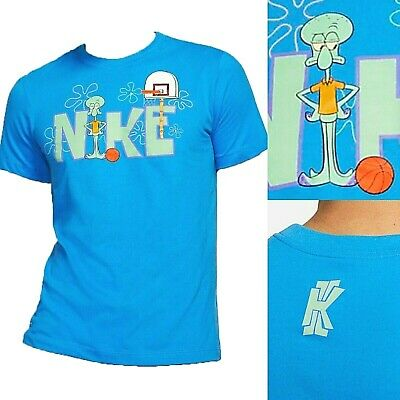 new styles 2e2f2 f81d3 NIKE KYRIE SPONGEBOB Squidward Tentacles Shirt Mens Blue Size Medium Large  (NEW)