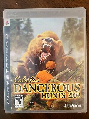Cabela's Dangerous Hunts 2009 (Sony PlayStation 3, 2008) Complete PS3 Game