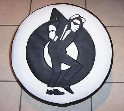 Skaman/Black/White Target Scooter Wheel Cover