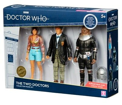 B & M Doctor Dr Who The Two Doctors Collector Figure Set *BRAND NEW*