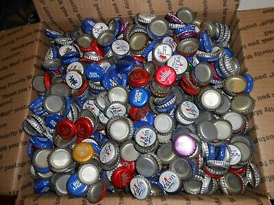 BEER BOTTLE  CAPS  1500+  ASSORTED BRANDS 7lbs  Shipping $13.00