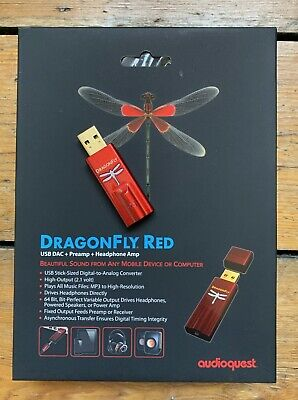 AUDIOQUEST DRAGONFLY RED  Latest Generation with MQA Support