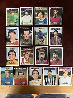 A&bc Orange Backed Football Bubblegum Cards X 17 Mixed Conditions