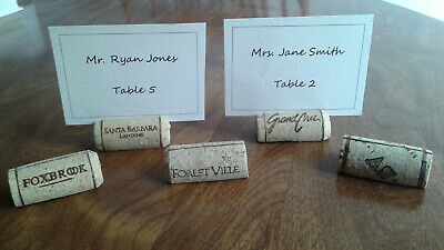 50 Used Natural Wine Cork Placeholders for Wedding or Party