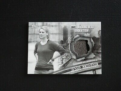 2017 Topps The Walking Dead Evolution Jessie Anderson Costume Relic #08/10 NMMT