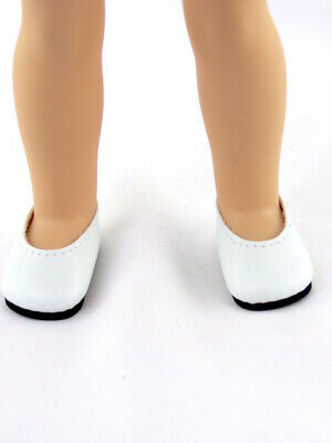 Shoes White Pearls Dressy for 14 in Wellie Wishers Doll American Girl Accessory