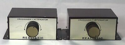 Realistic Crossover Attenuators Pair Radio Shack Historical Archive Vintage 1958