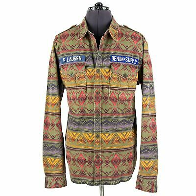 Denim & Supply Ralph Lauren Cotton Navajo Epaulet Shacket Shirt Jacket XXL