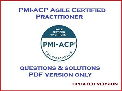 PMI-ACP Agile Certified Practitioner exam dumps questions and solutions