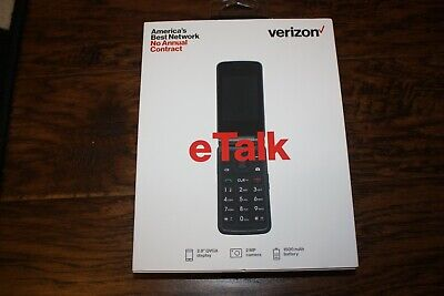 New Gray Verizon Wireless Prepaid eTalk Flip 1.1 GHz Quad-Core Prepaid Phone