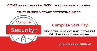Comptia security plus + Sy0-501 detailed video course and training