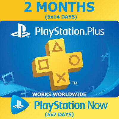 PLAYSTATION PS PLUS 2 Months (5x14) 70 Days PS4 Ps Now (5x7) NO CODE INSTANT