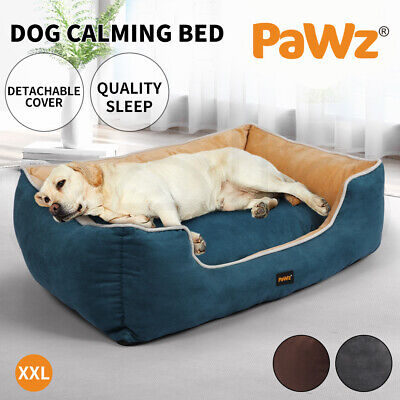 PaWz Pet Dog Cat Bed Deluxe Soft Cushion Lining Warm Kennel Mat Washable XXL