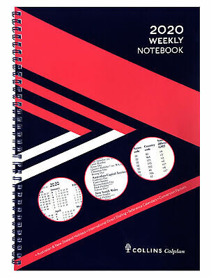 2020 Collins Colplan Weekly Notebook A5 Week to Page with Notes 61.P15-20