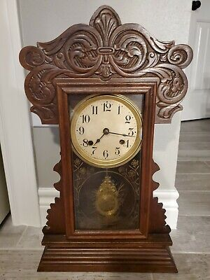 Waterbury Gingerbread Clock mantel-shelf