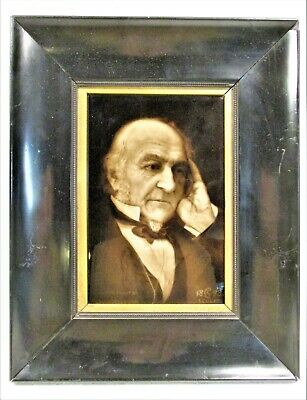 Fine Sherwin & Cotton Tile By George Cartlidge, William Gladstone In Orig Frame
