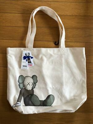 KAWS TOTE BAG #2 42200900001 UNIQLO 2019  Off White From Japan