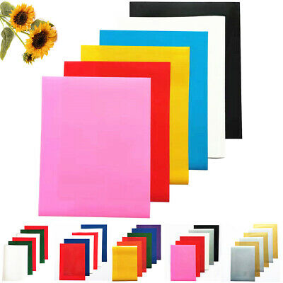 "Heat Transfer Vinyl Sheet for T-Shirts 15 Pack 8""x12"" 15 Colors Iron On HTV Film"