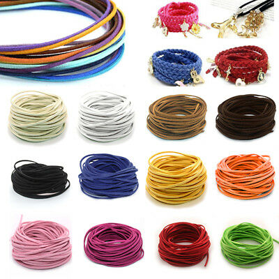 10yd Faux Suede Leather DIY Thread Cord String Making Bracelet Jewelry 3mm Rope