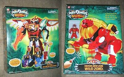 POWER RANGERS WILD Force Deluxe ISIS MEGAZORD & DELUXE RED LION Wild Zord  LOT!