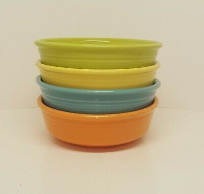 Fiestaware Mixed Color Small Bowl Lot of 4 Fiesta Small Cereal Bowl 4C10M4
