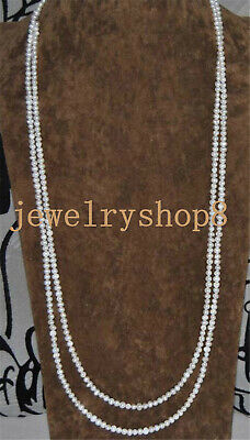 small 5-6mm Genuine Natural Freshwater Pearl Single Strand Necklace Long Wrap