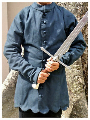 Blue Color Medieval Reenactment Gambeson Super Nice Look Beautiful Design