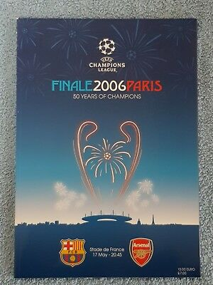 2006 - CHAMPIONS LEAGUE FINAL PROGRAMME - BARCELONA v ARSENAL - V.G CONDITION