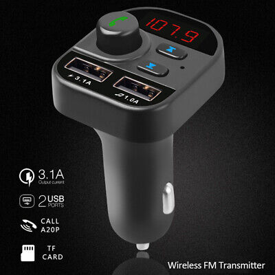 Bluetooth 5.1 In Car Wireless FM Transmitter MP3 Radio Adapter USB Charger