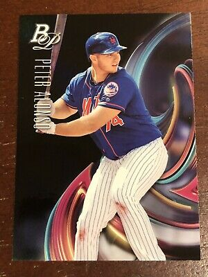 Peter Alonso 2018 Bowman Platinum Top Prospects Card #TOP-15 New York Mets