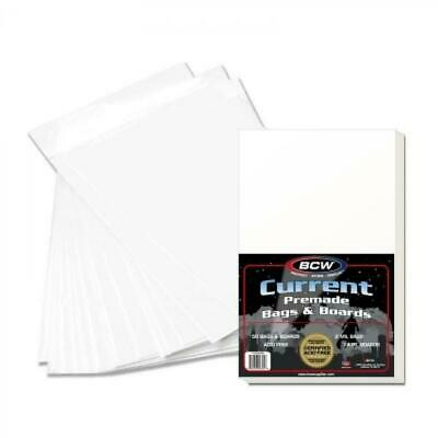 BCW Current Comic Premade Bags and Boards -- Pack of 50