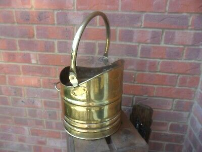 Brass Coal Bucket Or Flower Pot Container