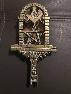 Vintage Solid Brass Masonic Door Knocker