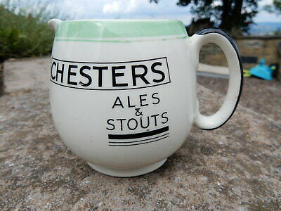 Chesters Art Deco 1930's ales and stouts brewery advertising water pub jug