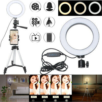 "6"" Dimmable LED Ring Light Photography Studio Continuous Lighting +Tripod AP"