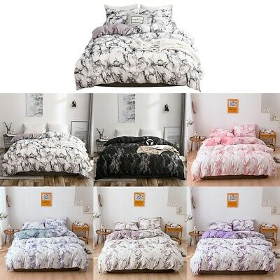 3Pcs Bedding Sets Soft Bed Quilt Duvet Cover Set For Double New Marble Printing