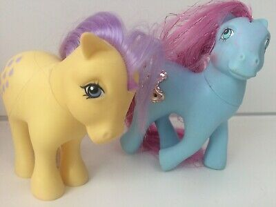 My Little Pony G1 Princess Sapphire/Royal Blue 1987 & Lemondrop 1982 MLP Bundle