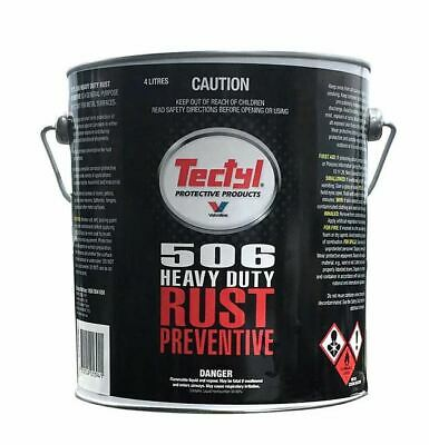 Valvoline Tectyl 506 Rust Prevention 4Ltr - excellent for long-term protection