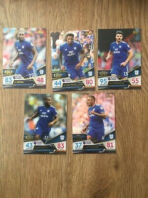 MATCH ATTAX ULTIMATE 2018/19 - Full 5 base card team set - CARDIFF CITY