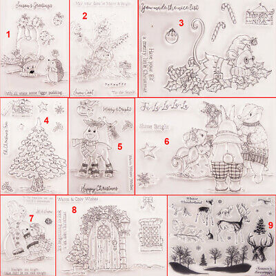 Christmas Transparent Silicone Clear Stamps DIY Scrapbook Embossing Art Mouse