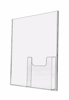 """8.5""""W x 11""""H Wall Mount Ad Frame Brochure Pocket Lot of 12"""