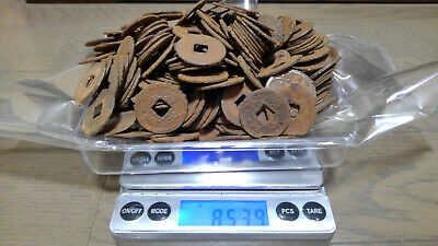 LOT OF 853.9 g ANTIQUE JAPANESE JAPAN IRON OLD CASH COINS EDO SAMURAI VERY RARE