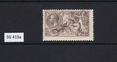 GB 1918 SG415a GEORGE V 2/6 PALE BROWN SEAHORSE UNMOUNTED MINT