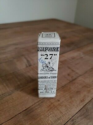 Antique Humphreys Homeopathic Medicine NOS #27 Urinary Tract Disorders Unopened