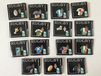 Lot   15  Pins  RUGBY WORLD CUP 2007